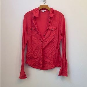 Pink/red AEROPOSTALE button down shirt xl